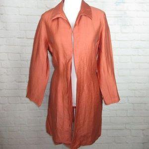 Eddie Bauer women's size M Linen Blend Rust Orange